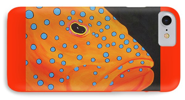 Grouper Head IPhone Case by Anne Marie Brown