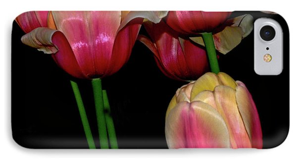 Grouping Ofpink And Yellow Tulips IPhone Case