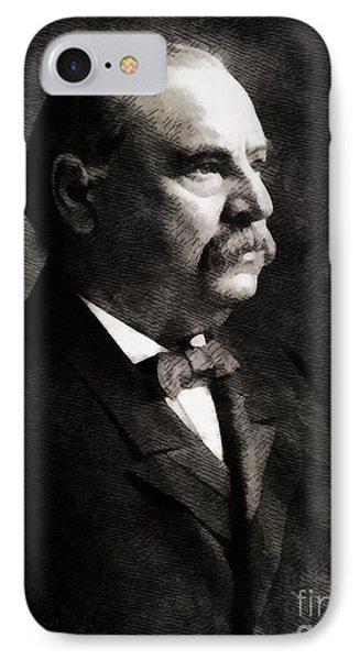Grover Cleveland, President United States By John Springfield IPhone Case by John Springfield