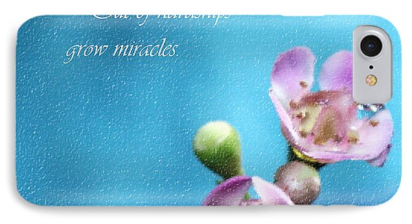 Grow Miracles IPhone Case by Krissy Katsimbras