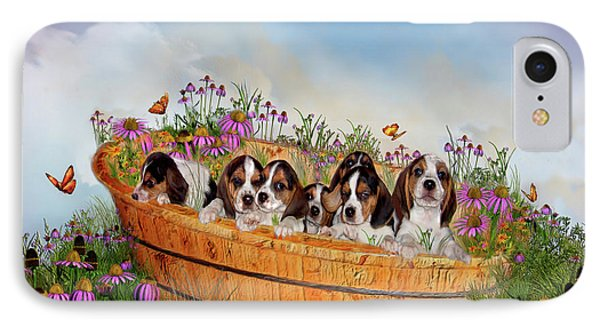 Growing Puppies IPhone Case