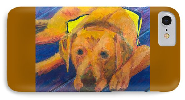 IPhone Case featuring the painting Growing Puppy by Donald J Ryker III