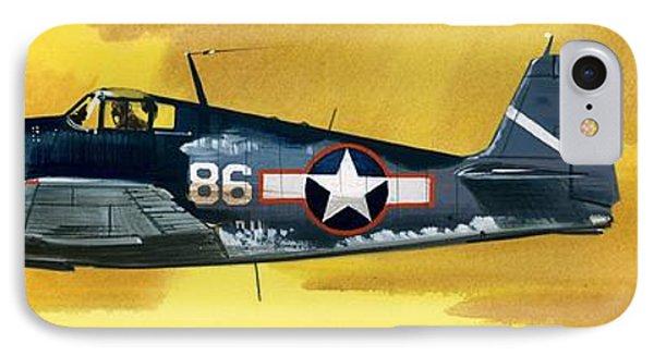 Grumman F6f-3 Hellcat IPhone Case by Wilf Hardy