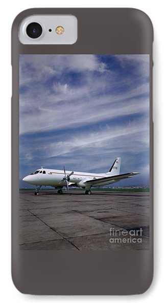 Grumman G-159 Gulfstream Patiently Waits, N719g IPhone Case by Wernher Krutein