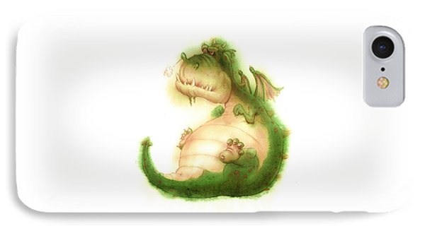 Grumpy Dragon IPhone Case by Andy Catling