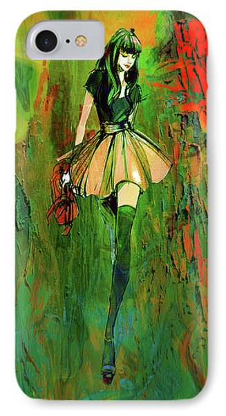IPhone Case featuring the digital art Grunge Doll by Greg Sharpe