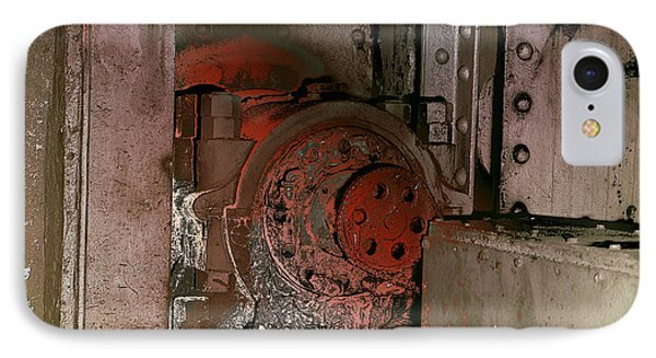 IPhone Case featuring the photograph Grunge Gear Motor by Robert G Kernodle