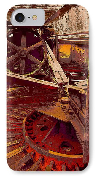 IPhone Case featuring the photograph Grunge Gears by Robert Kernodle