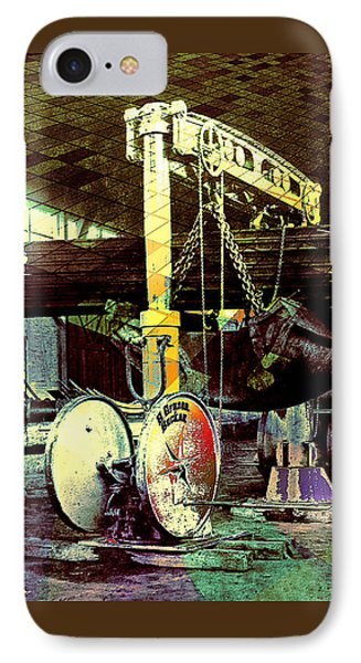 IPhone Case featuring the photograph Grunge Hydraulic Lift by Robert G Kernodle