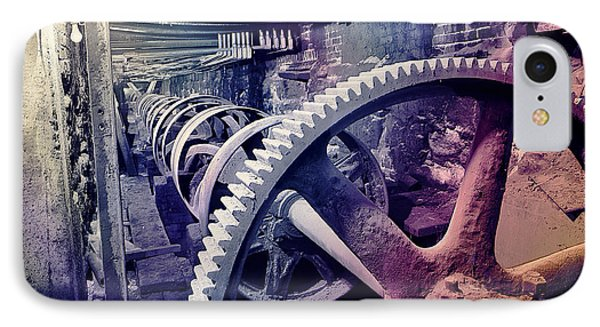 IPhone Case featuring the photograph Grunge Large Gear by Robert G Kernodle