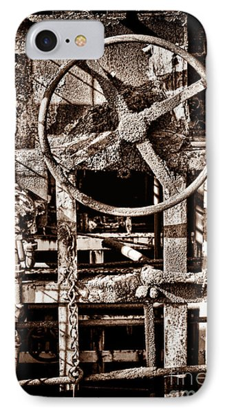 Grunge Machinery IPhone Case by Olivier Le Queinec