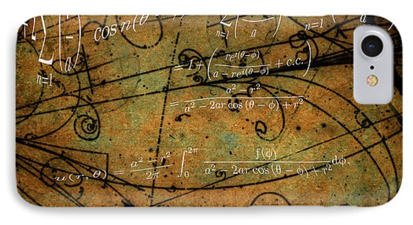 IPhone Case featuring the photograph Grunge Math Equations by Robert G Kernodle