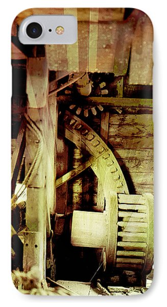 IPhone Case featuring the photograph Grunge Mill Wheels by Robert G Kernodle