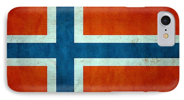 Grunge Norway Flag IPhone Case by Dan Sproul