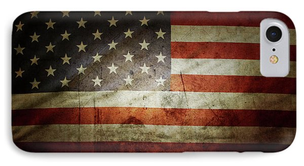 Grunge Usa Flag IPhone Case by Les Cunliffe
