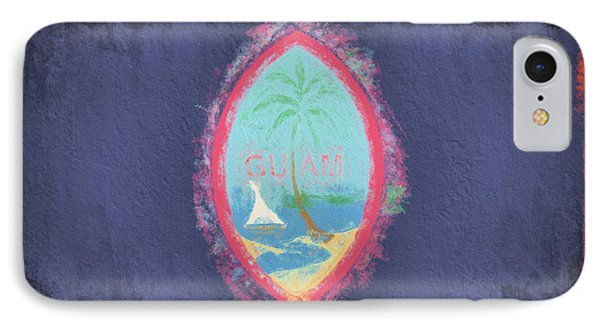 IPhone 7 Case featuring the digital art Guam Flag by JC Findley