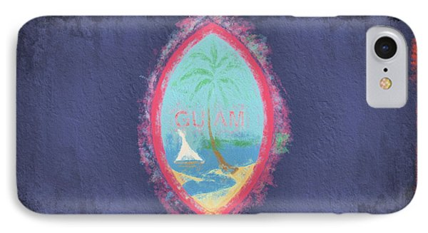 IPhone Case featuring the digital art Guam Flag by JC Findley