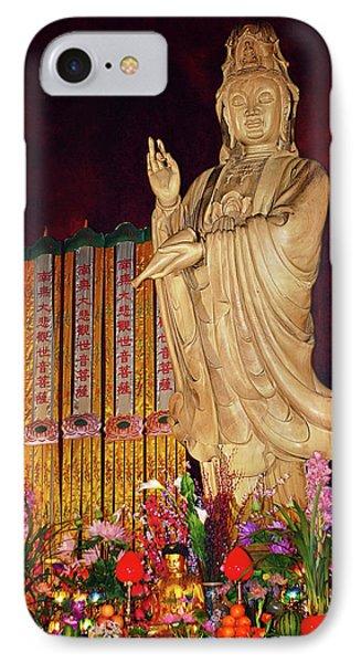 Guanyin Bodhisattva - Jin'an's Rare Female Buddha Phone Case by Christine Till