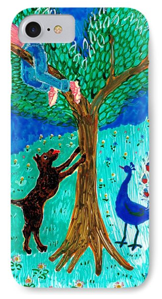 Guard Dog And Guard Peacock  Phone Case by Sushila Burgess