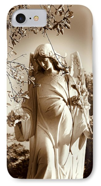 Guardian Angel Bw Phone Case by Susanne Van Hulst