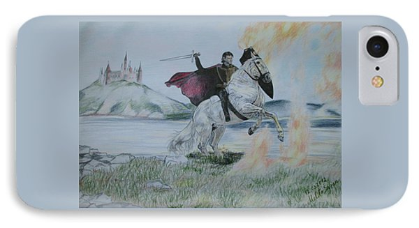 Guardian Of The Castle IPhone Case by Melita Safran