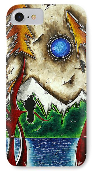 Guardians Of The Wild Original Madart Painting Phone Case by Megan Duncanson