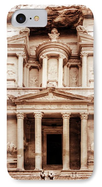 Guarding The Petra Treasury IPhone Case by Nicola Nobile