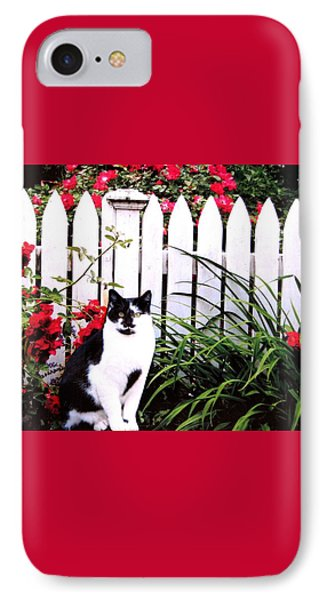 Guarding The Rose Garden Phone Case by Angela Davies