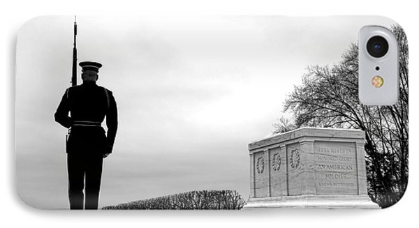 Guarding The Unknown Soldier IPhone Case by Olivier Le Queinec