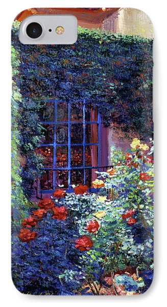 Beverly Hills iPhone 7 Case - Guesthouse Rose Garden by David Lloyd Glover