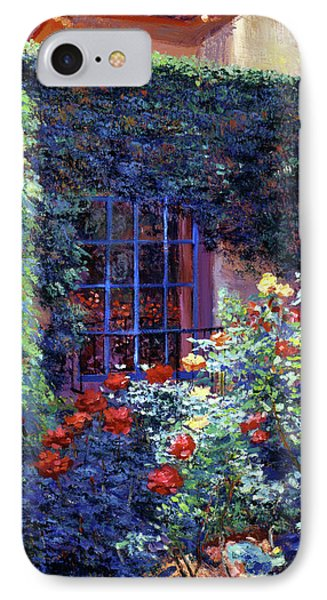 Guesthouse Rose Garden IPhone Case by David Lloyd Glover