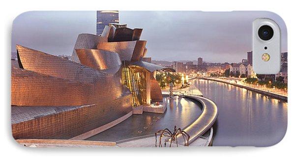IPhone Case featuring the photograph Guggenheim Museum Bilbao Spain by Marek Stepan