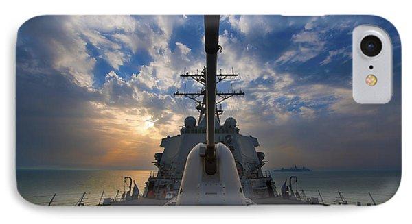 Guided-missile Destroyer Uss Higgins Phone Case by Stocktrek Images