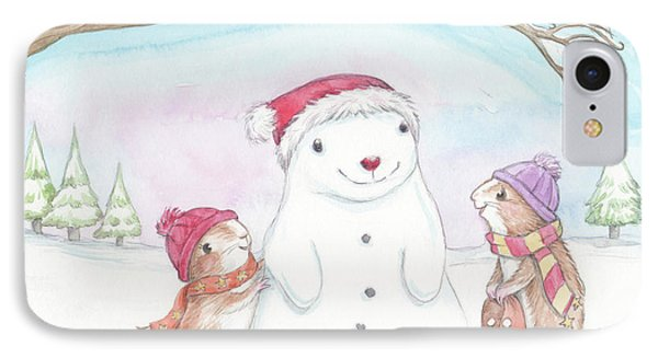 Guinea Pig Babies In The Snow IPhone Case by Joanna Scott
