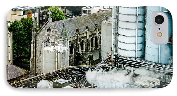 Guinness Brewery And St James Church In Dublin IPhone Case by RicardMN Photography