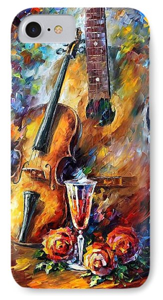 Guitar And Violin Phone Case by Leonid Afremov