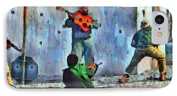 Guitar At Battlefield - Da IPhone Case by Leonardo Digenio