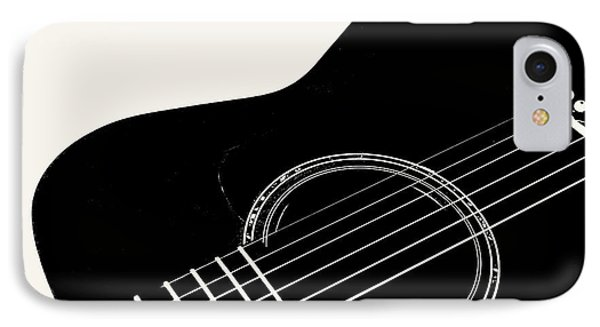 IPhone Case featuring the digital art Guitar, Black And White,  by Jana Russon
