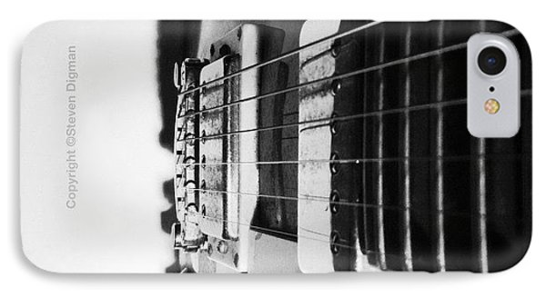 The Guitar  IPhone Case by Steven Digman