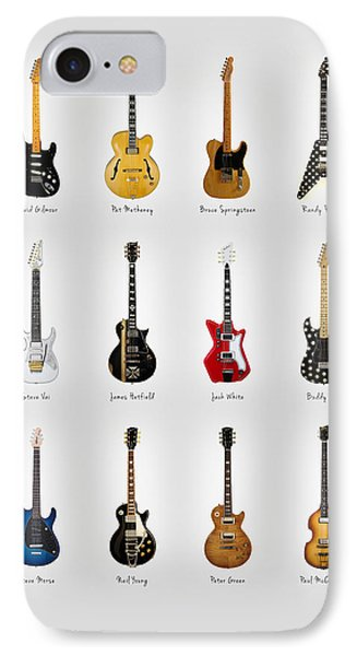 Guitar Icons No2 IPhone 7 Case by Mark Rogan