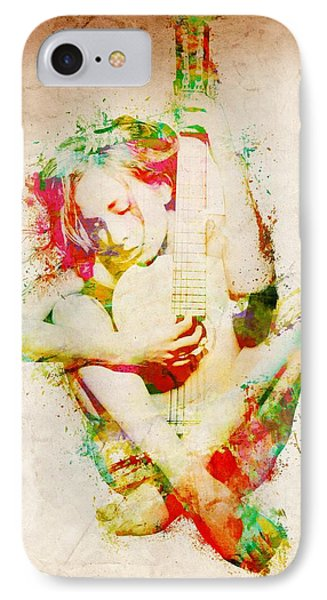 Rock And Roll iPhone 7 Case - Guitar Lovers Embrace by Nikki Smith