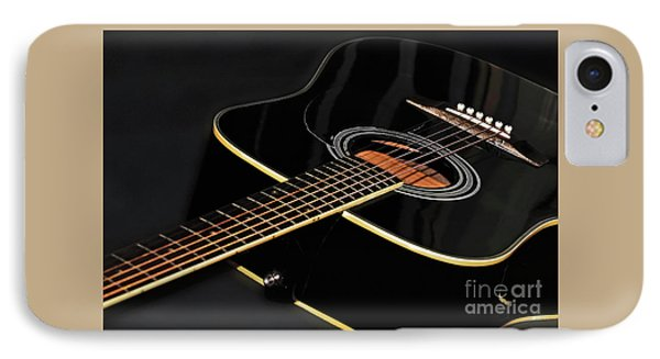 IPhone Case featuring the photograph Guitar Low Key By Kaye Menner by Kaye Menner