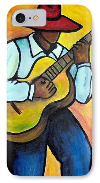 IPhone Case featuring the painting Guitar Man by Diane Britton Dunham