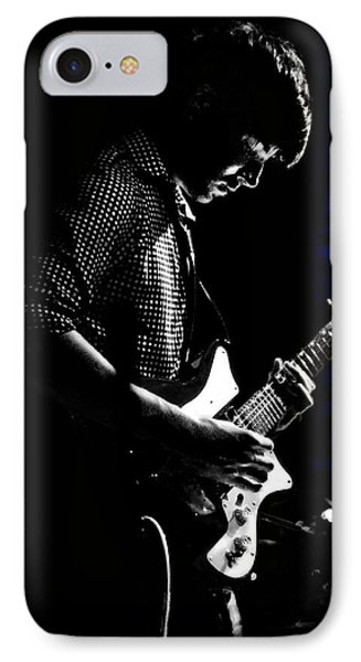 Guitar Man In Blue Phone Case by Meirion Matthias