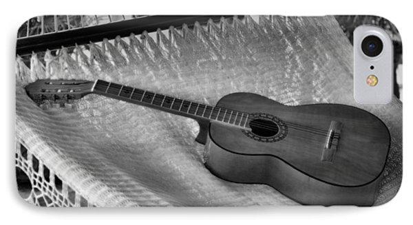 Guitar Monochrome IPhone Case by Jim Walls PhotoArtist