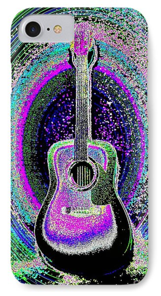 Guitar On The Stage IPhone Case by Jasna Gopic