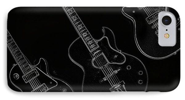 Guitar Trio Phone Case by Karol Livote