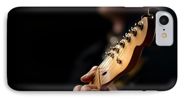 Guitarist Close-up IPhone Case by Johan Swanepoel