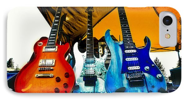 Guitars At Intermission IPhone Case by David Patterson