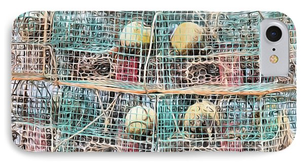 IPhone Case featuring the digital art Gulf Coast Crab Traps by JC Findley